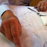 Drawing on the table
