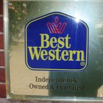 A plaque on the facade. Is it a Best Western?