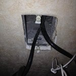 exposed wiring in the room