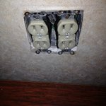 exposed outlet in our room