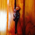 Monkey hook on bathroom door