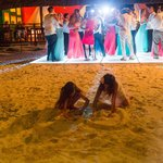 Dean Sanderson Photography- Light up dance floor on the beach