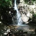 The waterfall we rode to