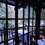 dinning room over the river and across a gorge