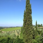view from bedroom looking over Pienza