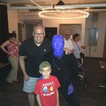 Pics with Blue Man