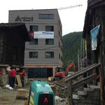 Sad to see Saas Fee being overdeveloped - another noisy site nearby