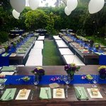 Rehearsal Dinner Setting
