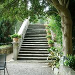 Stairs to the upper gardens