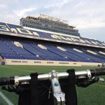 Biking to USNA Football stadium on bike friendly roads
