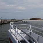 Arriving at Ship Island on ferry boat