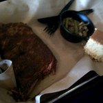 Ribs, small (5 bone) with green beans/bacon and corn bread