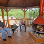 Relax in our creekside gazebo