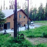 Back of lodge from the trail.