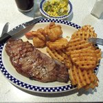 The best steak I've ever eaten at the Tick Tock diner