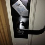 Pretty high tech keyless entry - just touch your keycard, a surprising feature!
