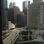 East view to Michigan Avenue and Wacker Drive on the South