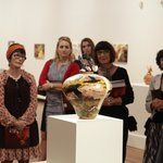 Hermannsburg Potters Collection on show in the McAleese Gallery, Artspace Mackay