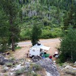 the view of our site #7 from the walk-in tent area