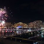View of the Darling Harbor Saturday Night Firwork