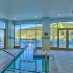 Outdoor Pool with Indoor Entrance