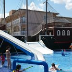 Pirate Ship in Splash Pool