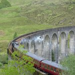 the viaduct with Jacobite steam train