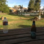Having a beer at the ranch!