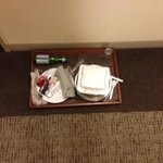 Room Service food left in hall