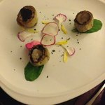 artichokes filled with quail egg