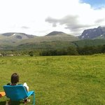 View of Ben and glen Nevis right infront of the eagle yurt