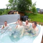 Hot tub was rather welcome!