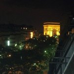 View of Arc de Triomphe from the 6th floor triple room