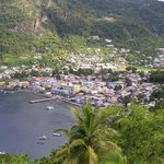 Scenic View of Soufriere Town
