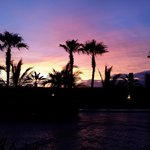 This is the amazing sunset from the front of the resort