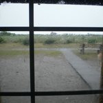 The view of the storm from our cottage