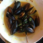 Steamed Mussels in a Thai lemon curry sauce - Unbelievable! I ate 1/2 before I took the picture!