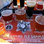The beer sampler from the bar on the roof terrace