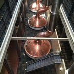 View of the original brew kettles on the 2nd floor