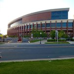 U. of Minnesota football stadium, across the stree