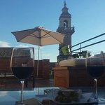 Tapas in the evening on the hotel rooftop