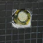 hole in shower for light