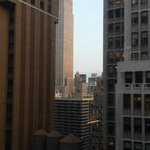 View of empire state from Hotel room window