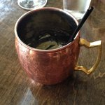 Moscow Mule in a copper cup