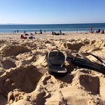 Noosa main beach - short drive or ferry ride away
