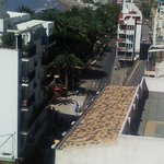 View from my terrace of Poniente beach and 'Dove park, just one minute from hotel