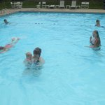 Pool was heated and warm!!