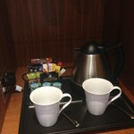 Twinings tea, coffee and hot chocolate provided