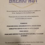 Breakfast buffet menu (2 of 2)