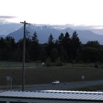 View from Hotel Room toward Olympic National Park